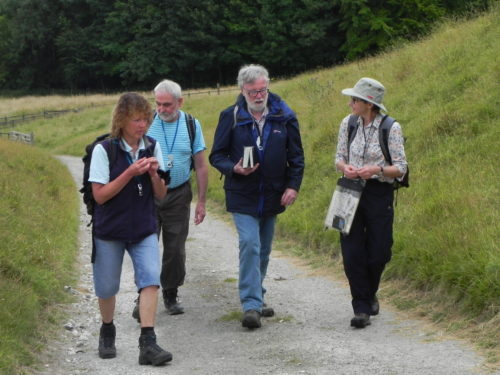 Picture of botanists in the countryside