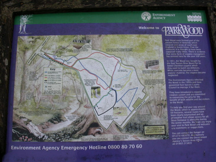 Picture of Information board, Park Wood