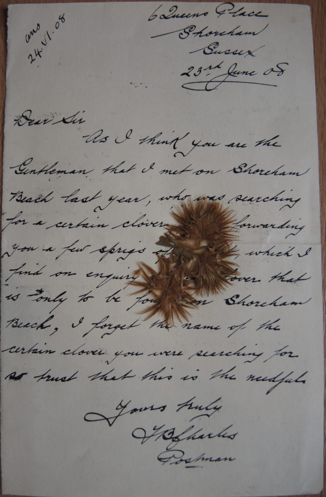 Image of the letter from J.B. Charles to Guermonprez