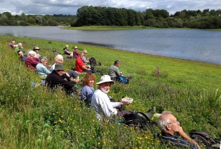 Picture of a group of botanists at Bewl Water